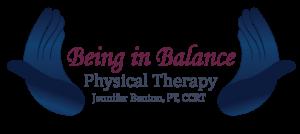 Being in Balance logo blue version